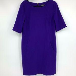 Tahari women's dress sheath purple career wear 14